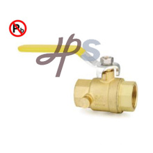 Meet NSF Certificate Lead Free Brass NPT Thread Ball Valve with Drain Hole